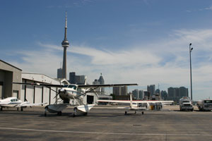 Airplanes at the Billy Bishop Airport